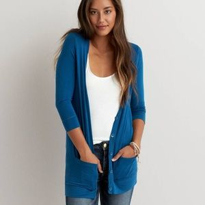 AEO Soft & Sexy Blue Cardigan